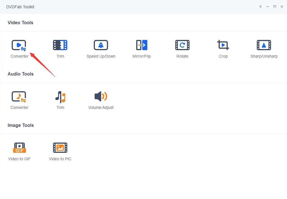 DVDFab Toolkit screenshot