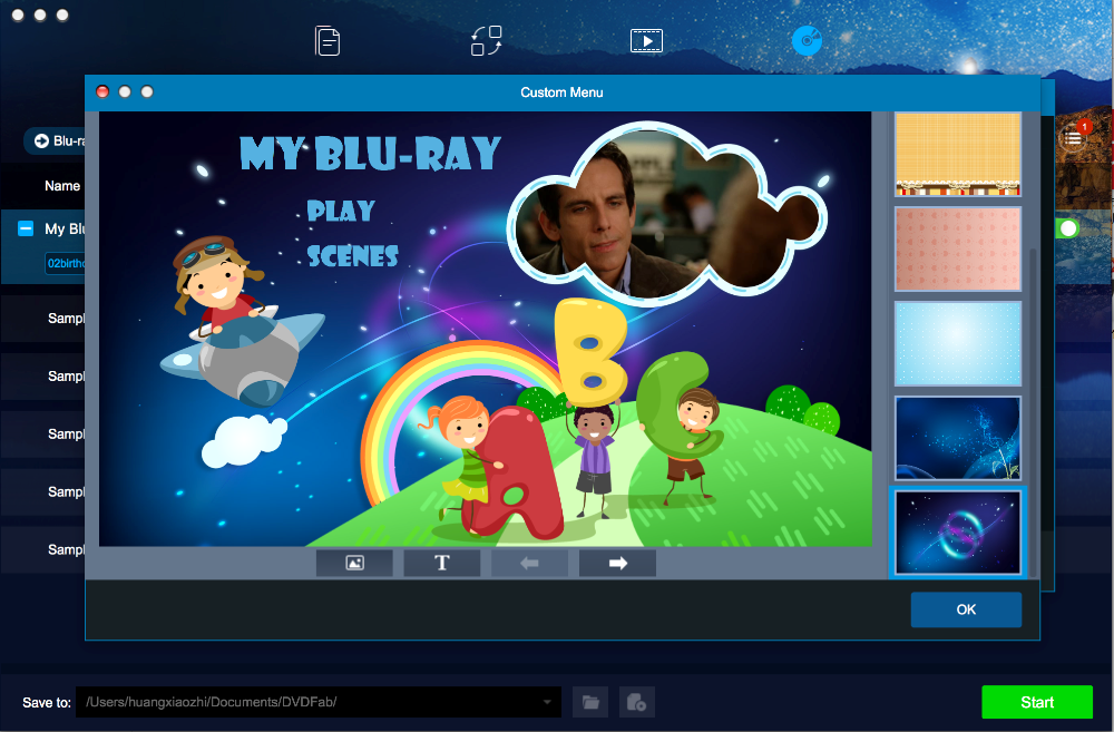 dvdfab blu-ray creator for Mac screenshot 3