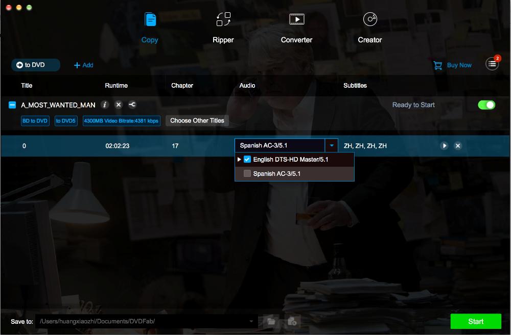 dvdfab blu-ray to dvd converter for Mac screenshot 2