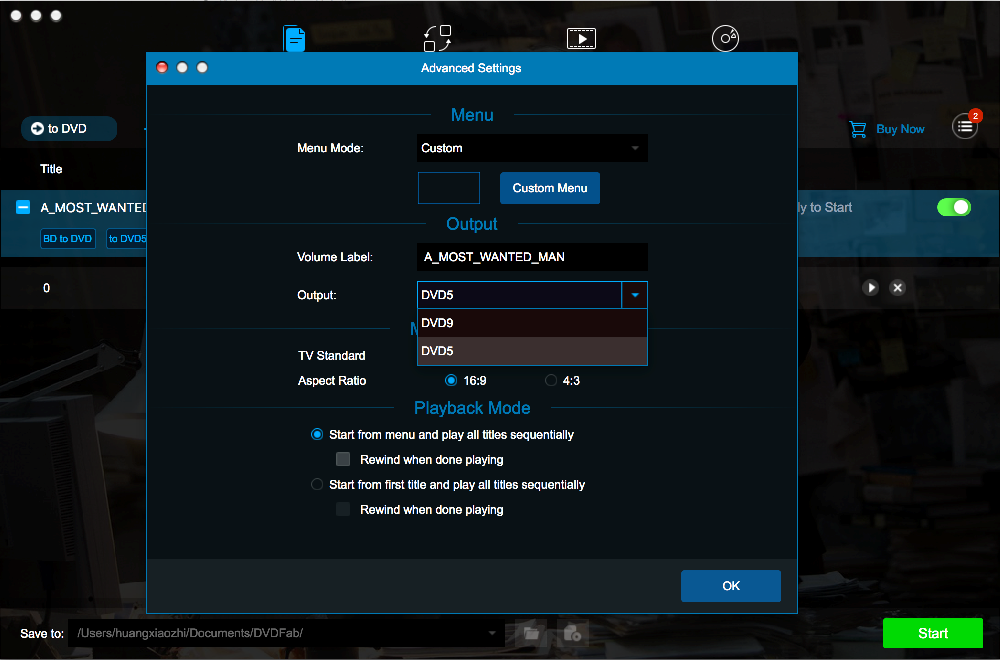 dvdfab blu-ray to dvd converter for Mac screenshot 3