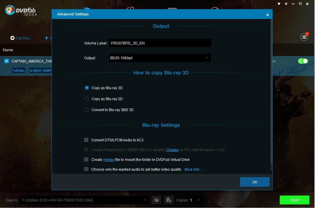 DVDFab Blu-ray Copy Screenshot 2