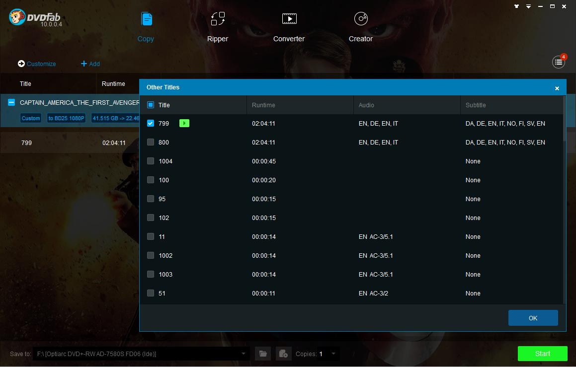 DVDFab Blu-ray Copy Screenshot 3