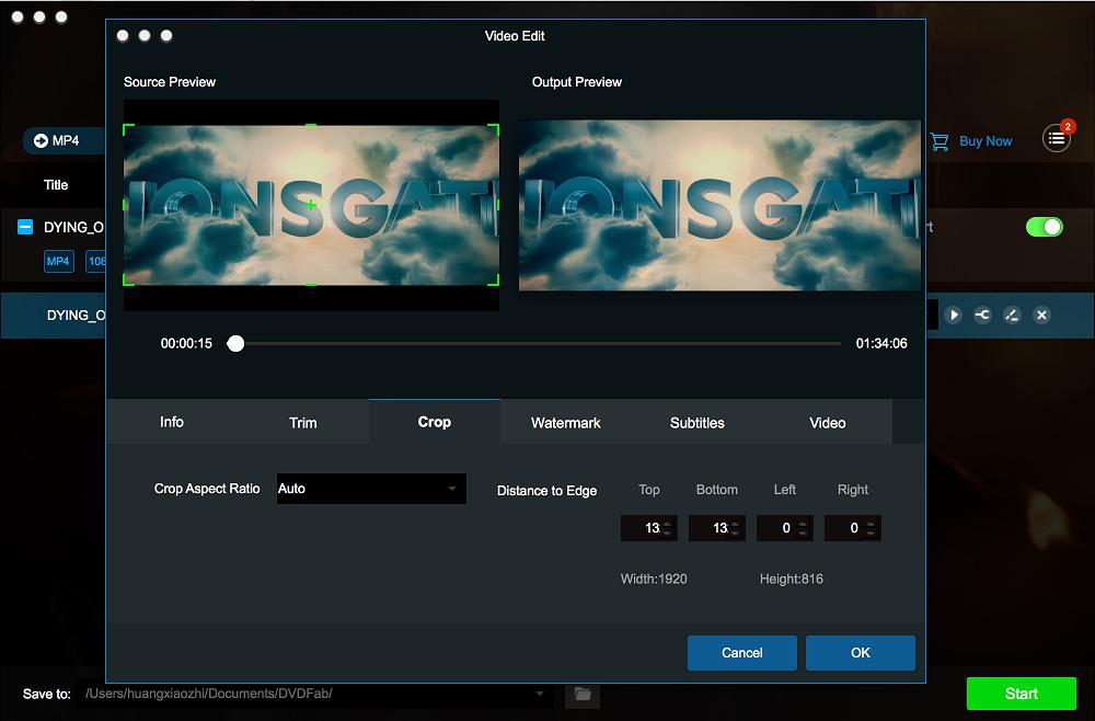 dvdfab blu-ray ripper for Mac screenshot 4