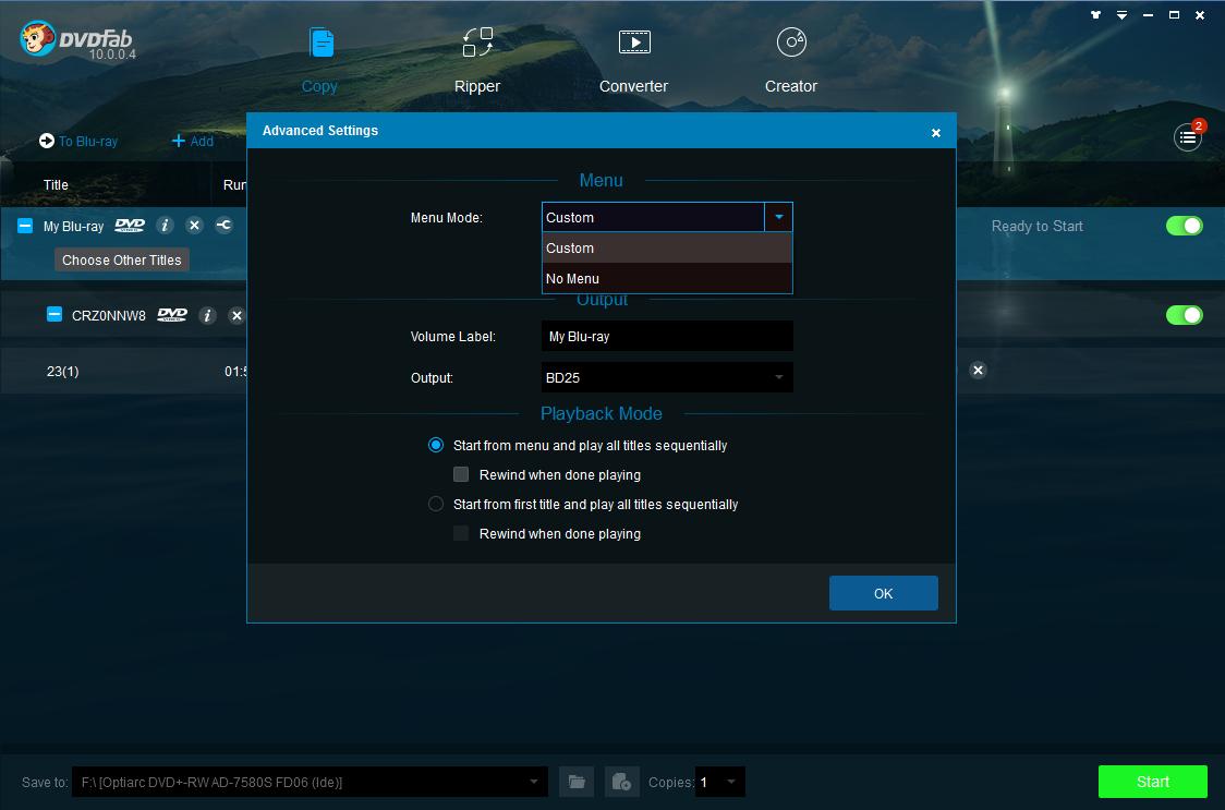 dvdfab dvd to blu-ray converter screenshot 2
