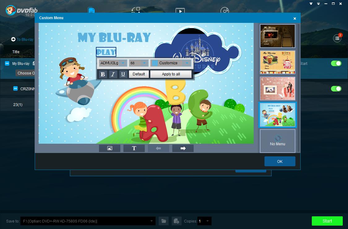 dvdfab dvd to blu-ray converter screenshot 3