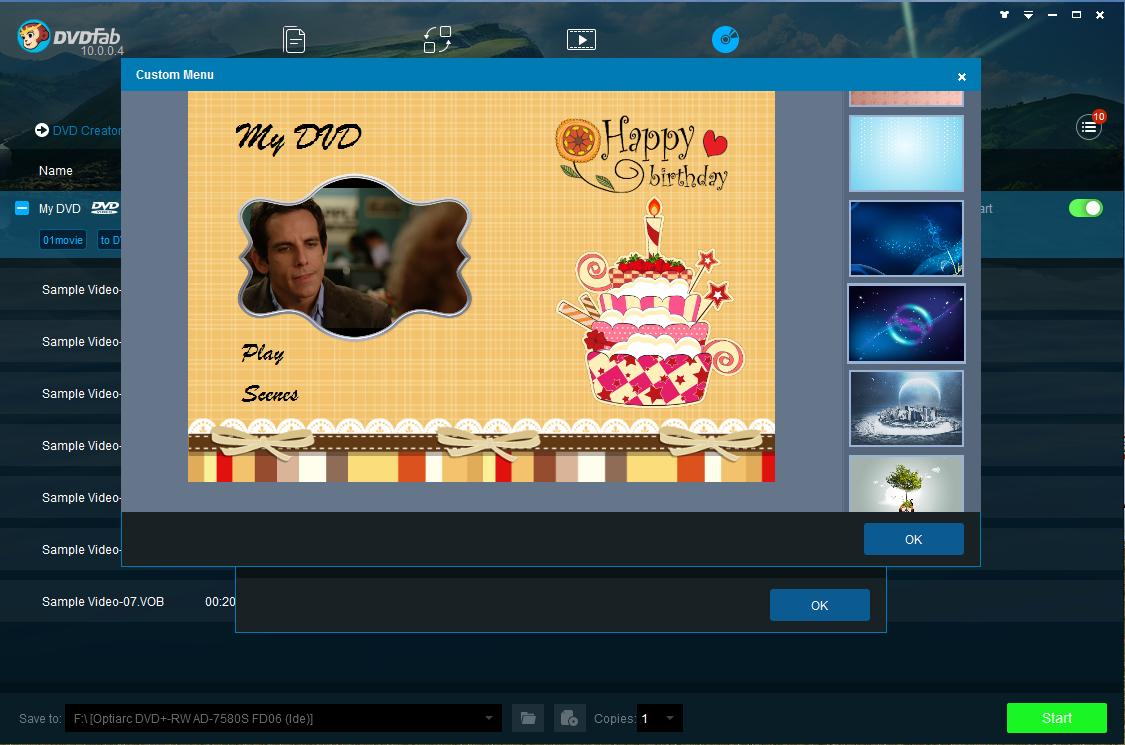 dvdfab dvd creator screenshot 3