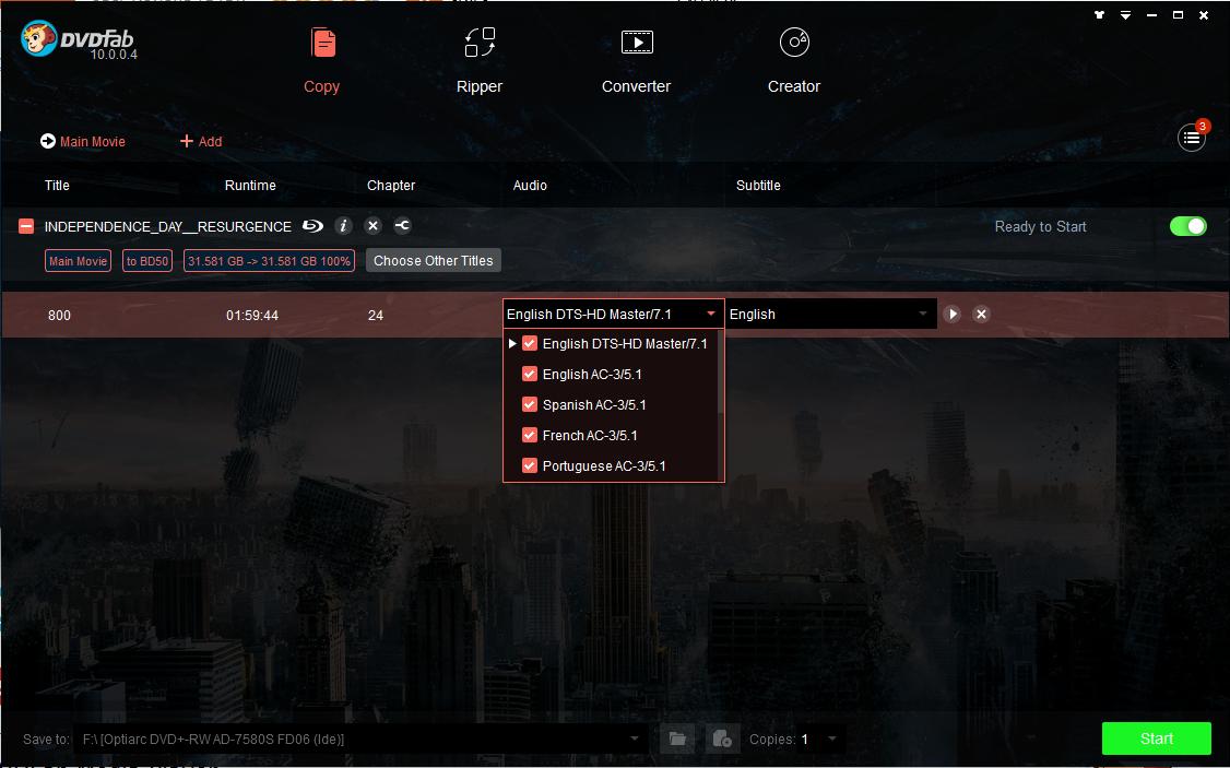 dvdfab hd decrypter screenshot 2