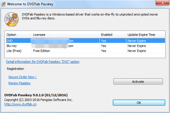 dvdfab passkey for blu-ray screenshot 1
