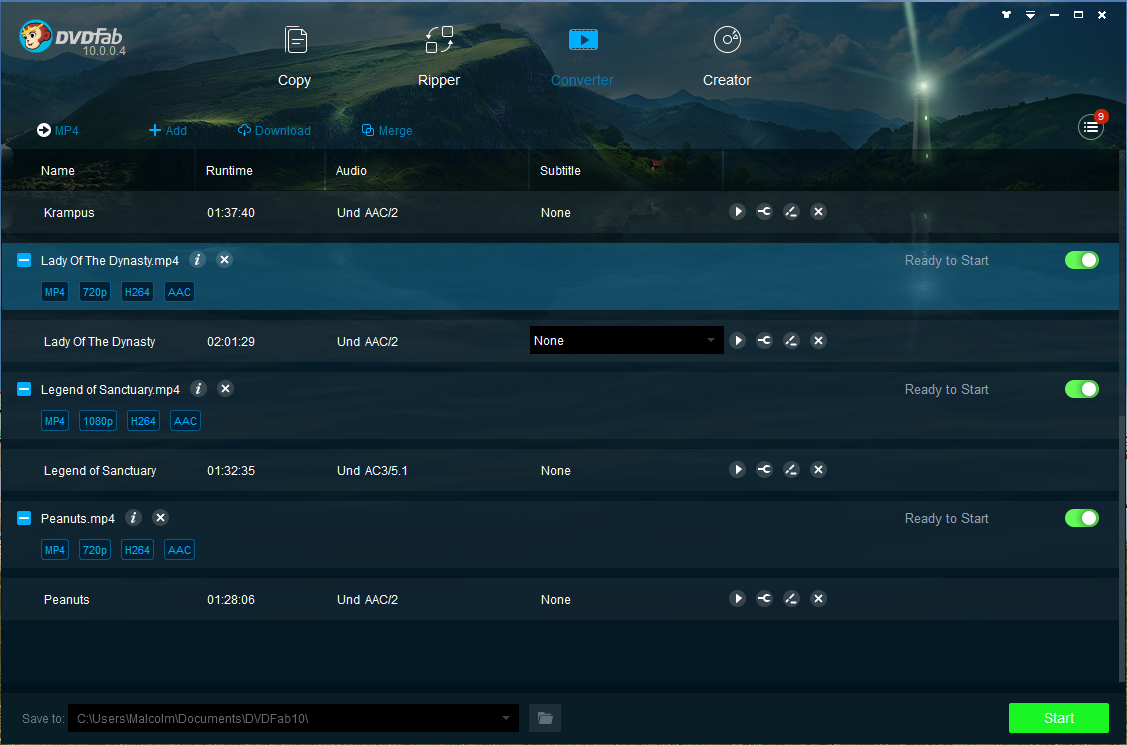 dvdfab video converter screenshot 1