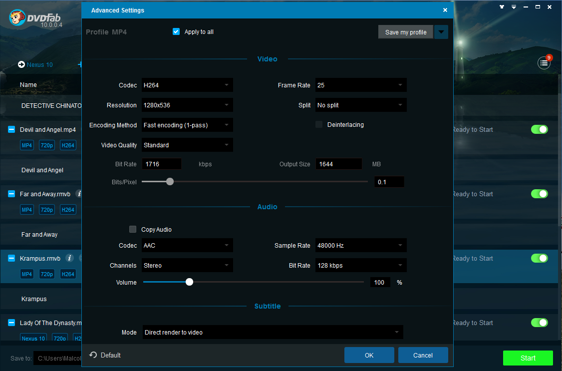 dvdfab video converter screenshot 3
