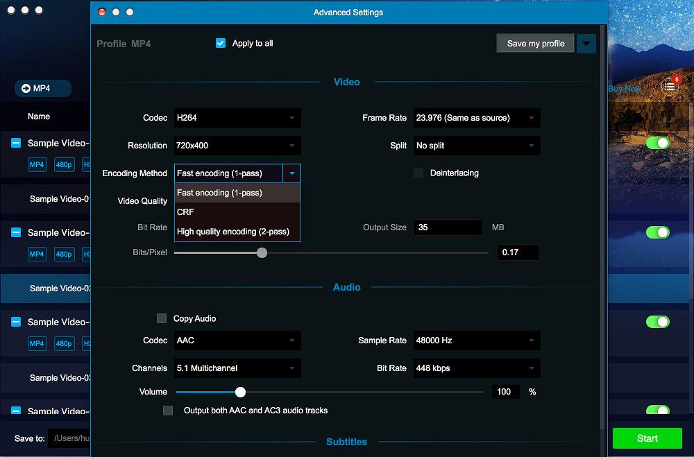 dvdfab video converter for Mac screenshot 4