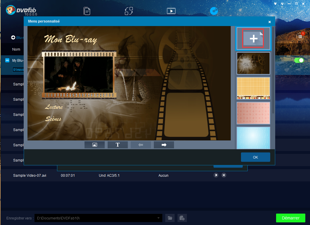 dvdfab blu-ray creator capture d'écran 3