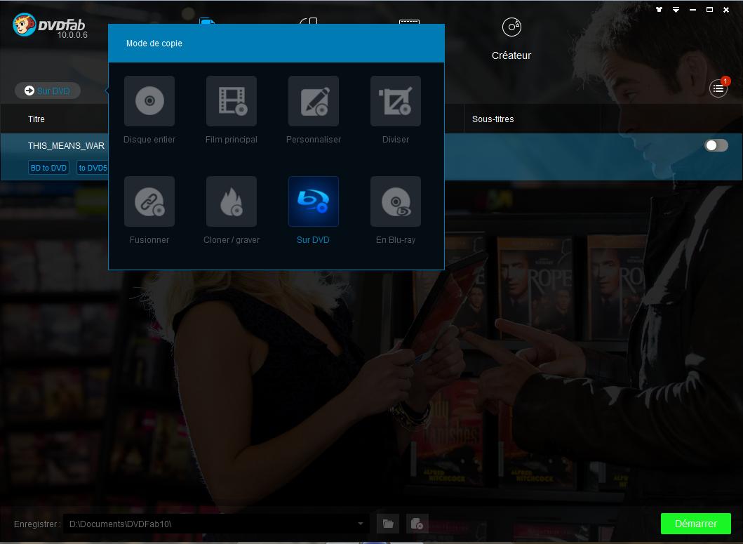 dvdfab blu-ray to dvd converter capture d'écran 1