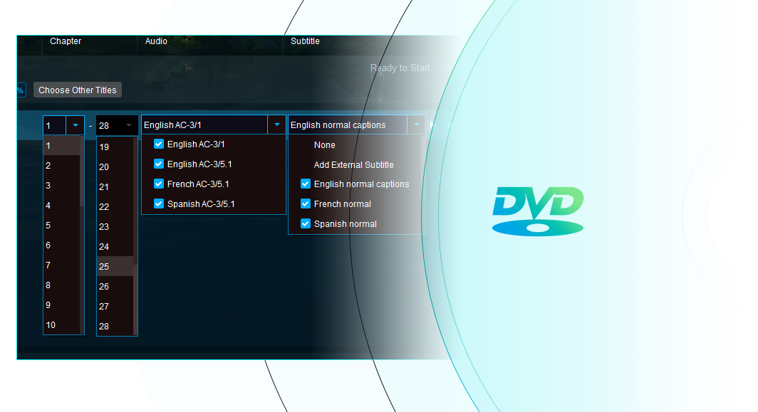dvdfab blu-ray to dvd converter for mac fonctionnalité 3