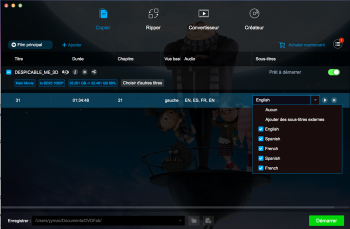 dvdfab blu-ray copy for mac capture d'écran 3