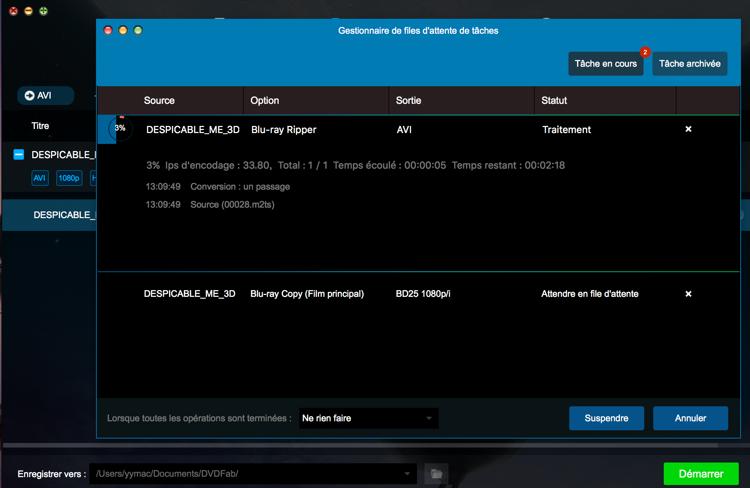dvdfab blu-ray ripper for mac capture d'écran 4