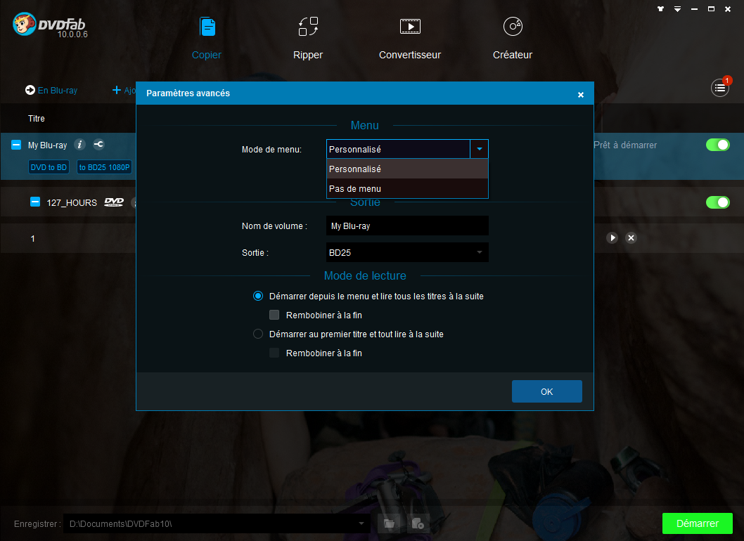 dvdfab dvd to blu-ray converter capture d'écran 2