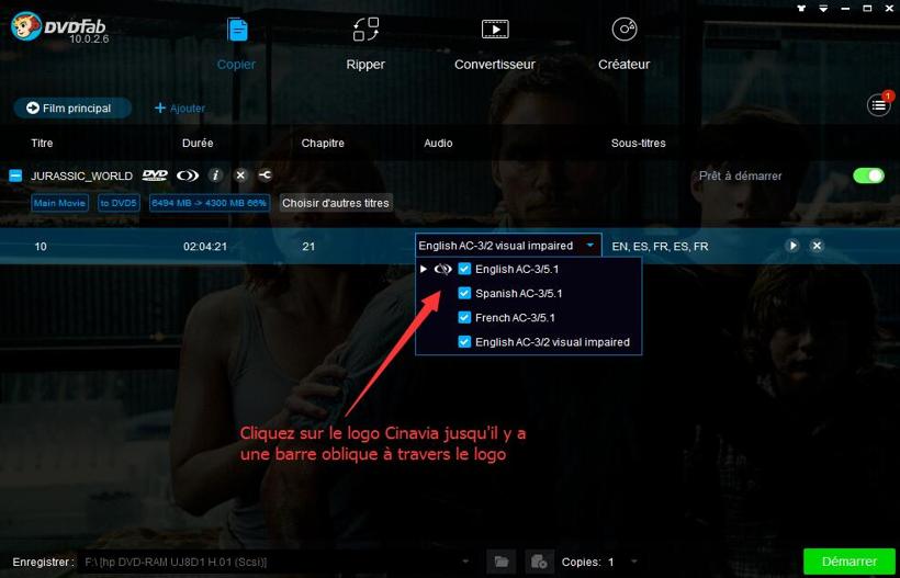 dvdfab dvd cinavia removal capture d'écran 3