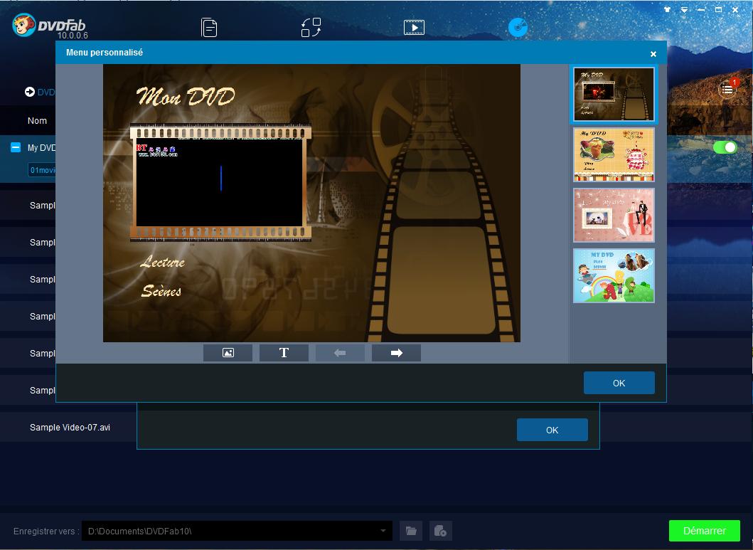 dvdfab dvd creator capture d'écran 3