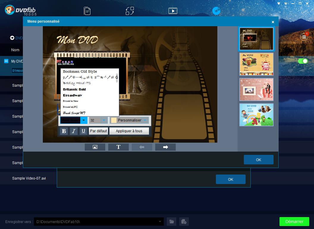 dvdfab dvd creator capture d'écran 4