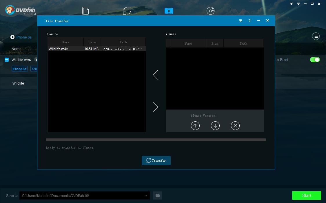 dvdfab file transfer capture d'écran 2