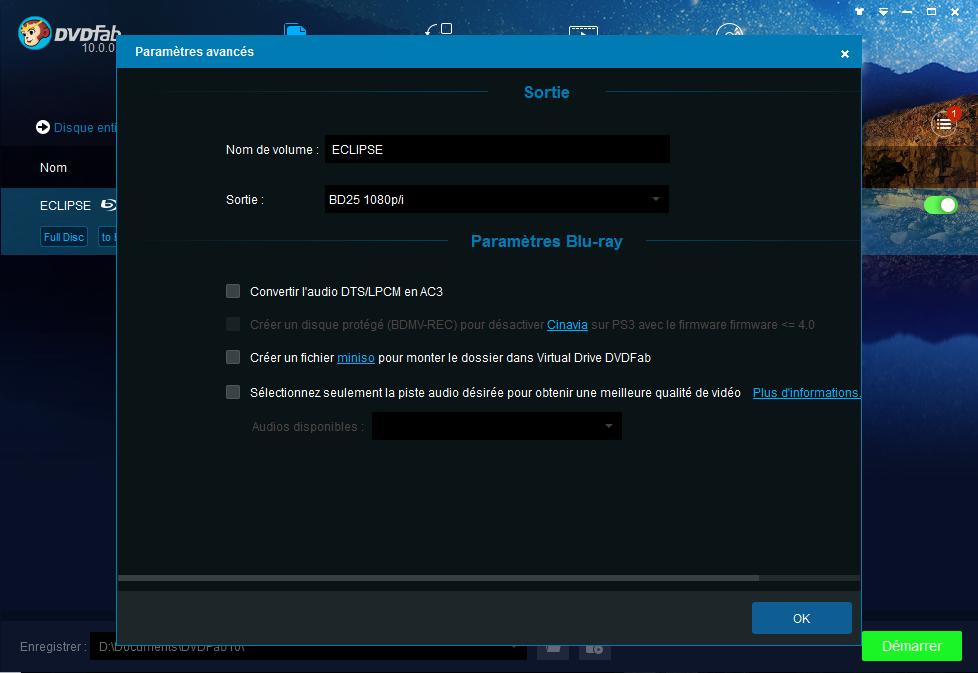 dvdfab hd decrypter capture d'écran 1