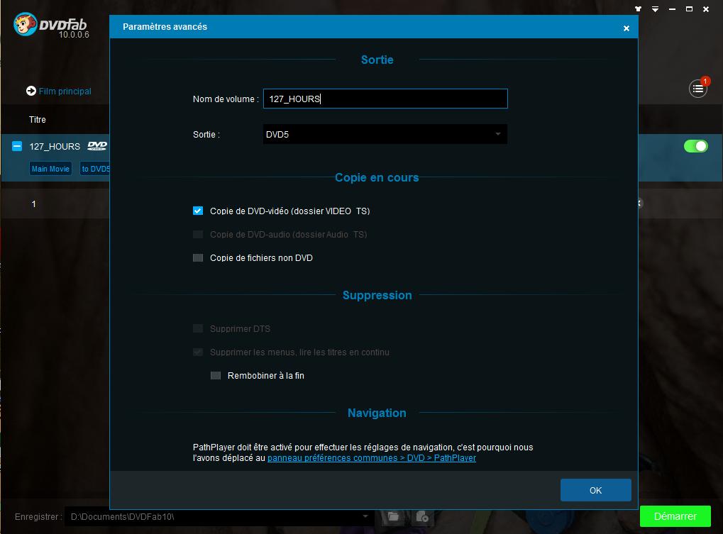dvdfab hd decrypter capture d'écran 3