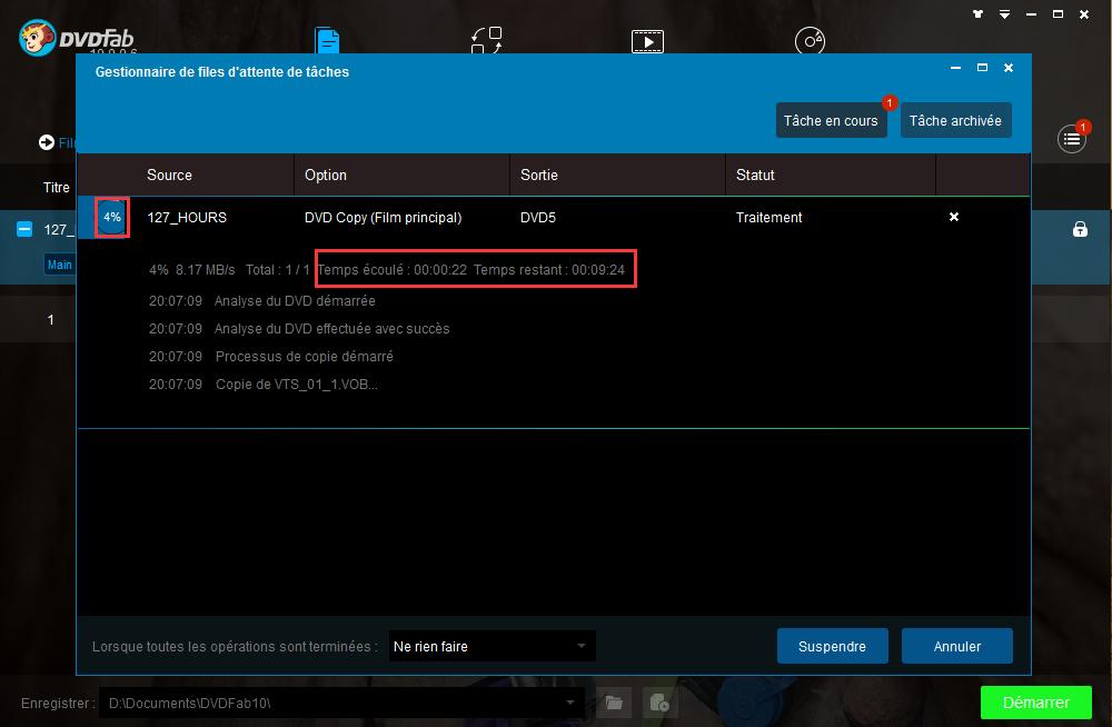 dvdfab hd decrypter capture d'écran 4