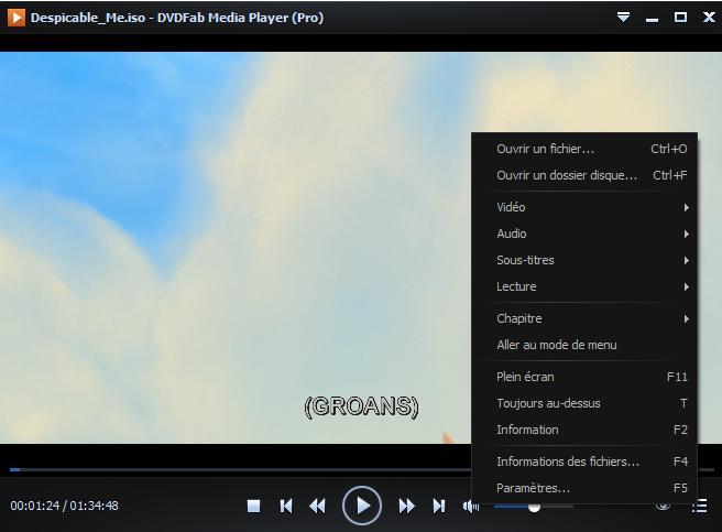 dvdfab media playerr capture d'écran 3