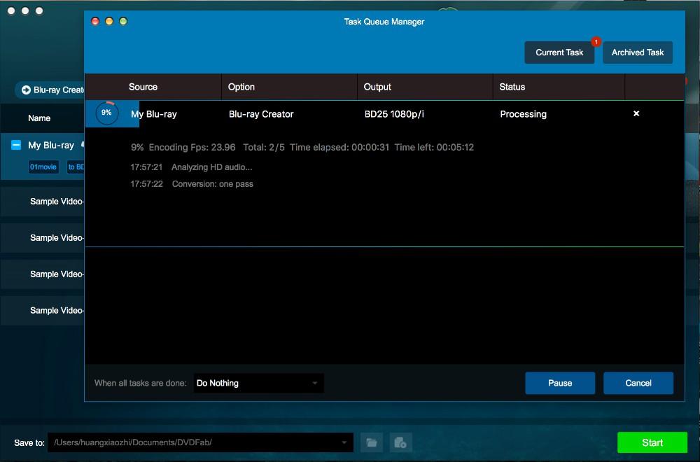 dvdfab blu-ray creator for Mac guide 3