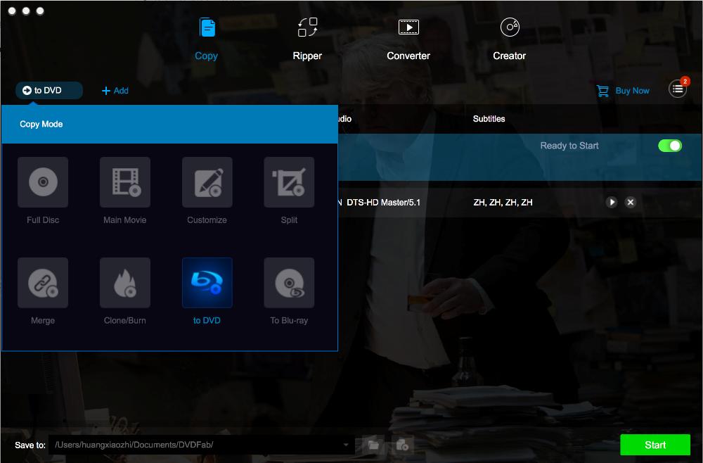 dvdfab blu-ray to dvd converter for Mac screenshot 1