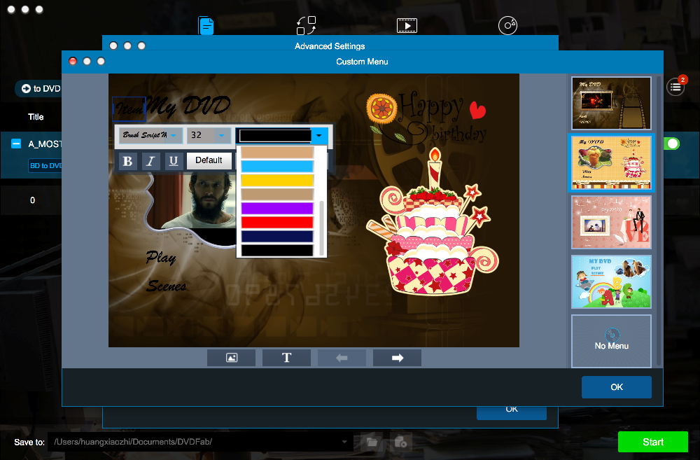dvdfab blu-ray to dvd converter for Mac screenshot 4