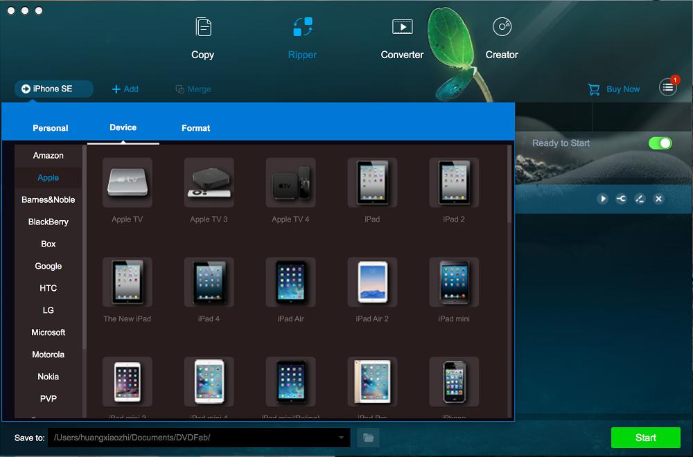 dvdfab blu-ray ripper for Mac screenshot 1
