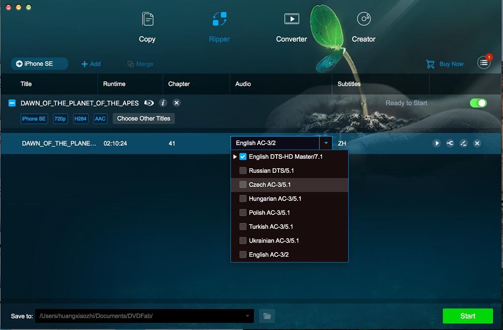 dvdfab blu-ray ripper for Mac screenshot 2