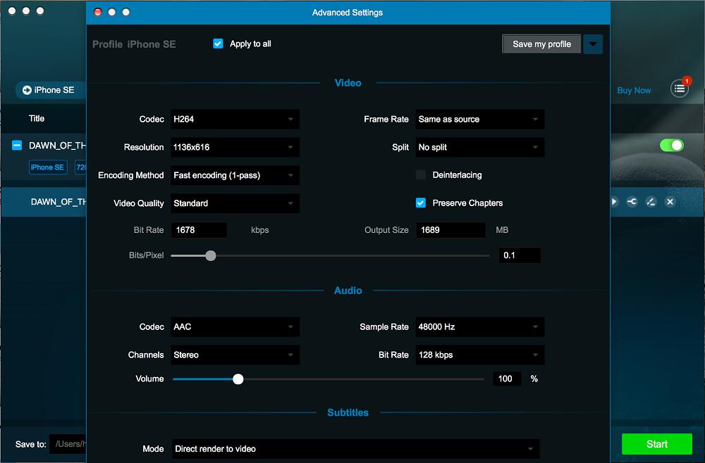 dvdfab blu-ray ripper for Mac screenshot 3