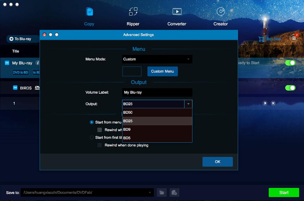 dvdfab dvd to blu-ray converter for Mac screenshot 3