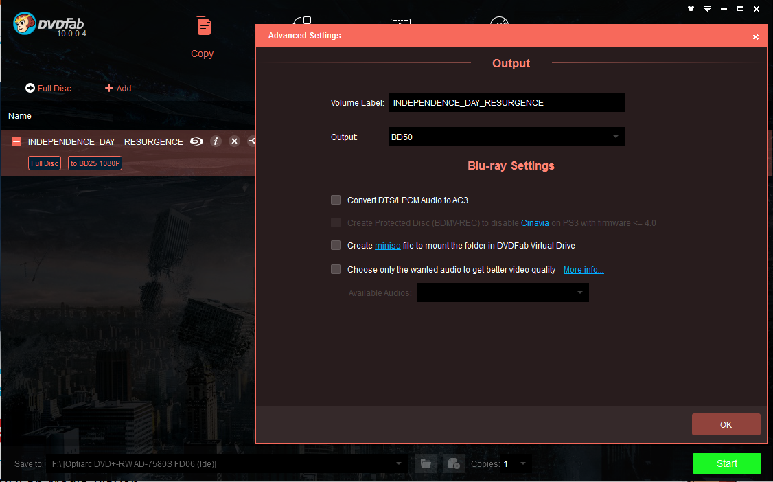 dvdfab hd decrypter screenshot 1
