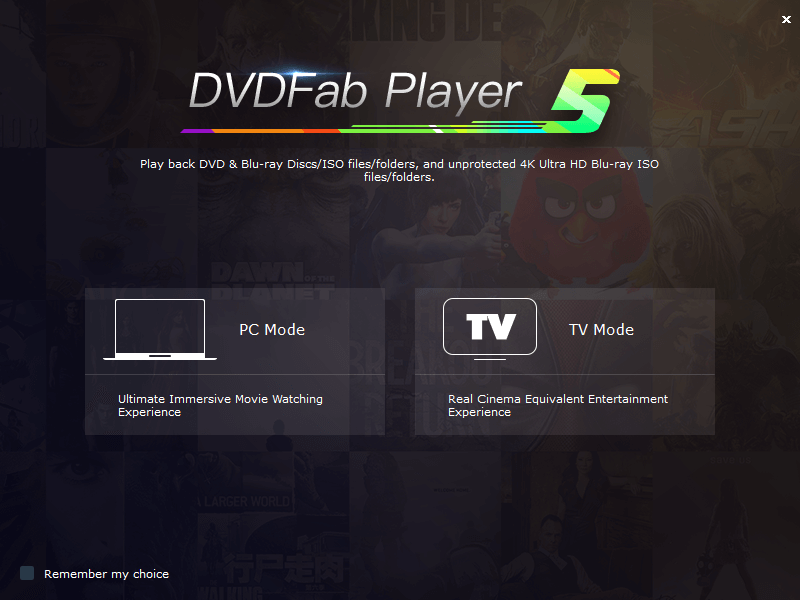 dvdfab media player screenshot 1