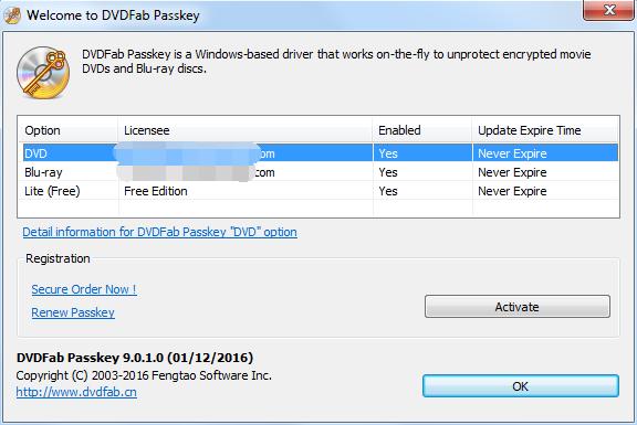 dvdfab passkey for dvd screenshot 1