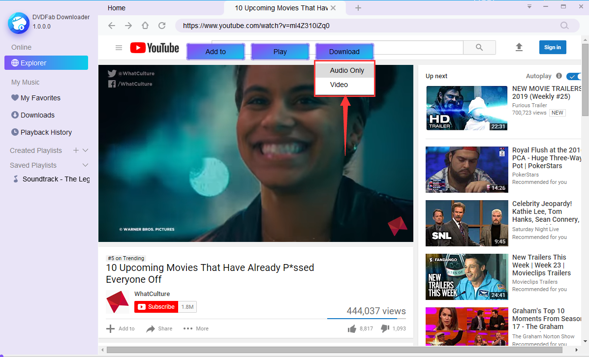 youtube to mp3 screenshot 2